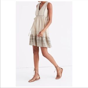 MADEWELL Quilted Side-Tie Dress in Moroccan Desert